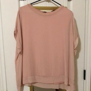 Zara Woman Sheer Contrasting Blouse